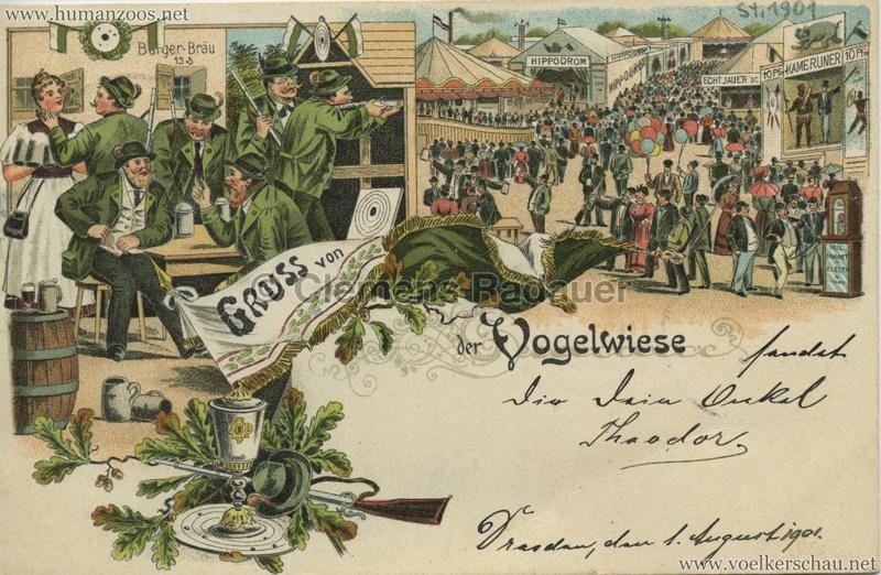 1901 Gruss von der Vogelwiese - Kameruner