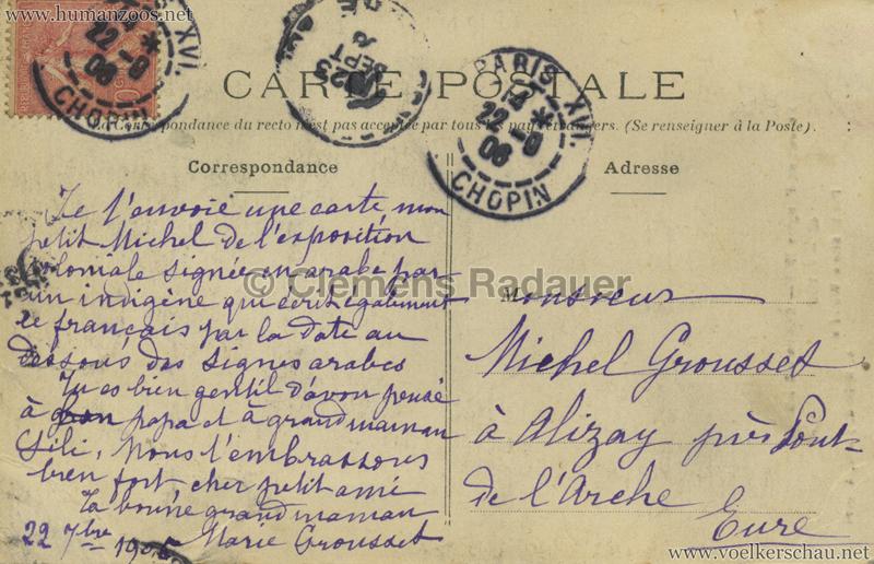 1906 Exposition Coloniale de Paris - 42 Fatou (Expo Angers) RS