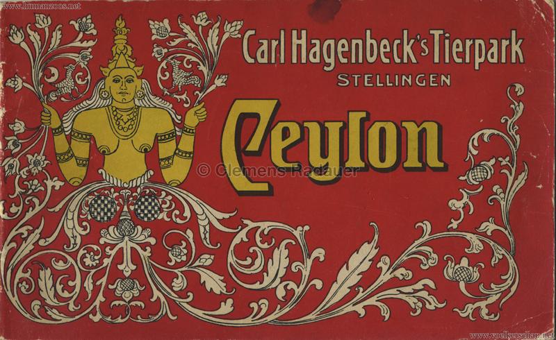 1908 Carl Hagenbeck's Völkerkundliche Ausstelung Ceylon S.0