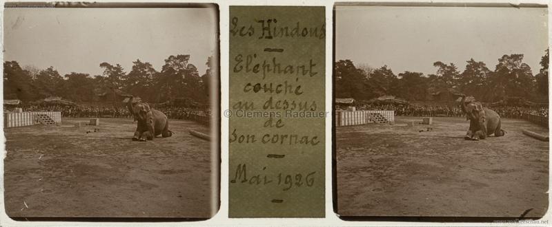 1926 Village Hindou - Jardin d'Acclimatation STEREO 1