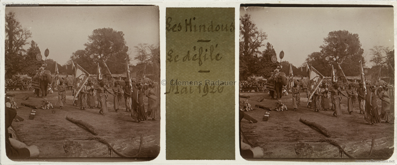 1926 Village Hindou - Jardin d'Acclimatation STEREO 2
