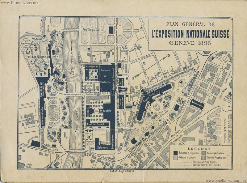 1896 L'Exposition Nationale Suisse Geneve PROGRAMM - Karte