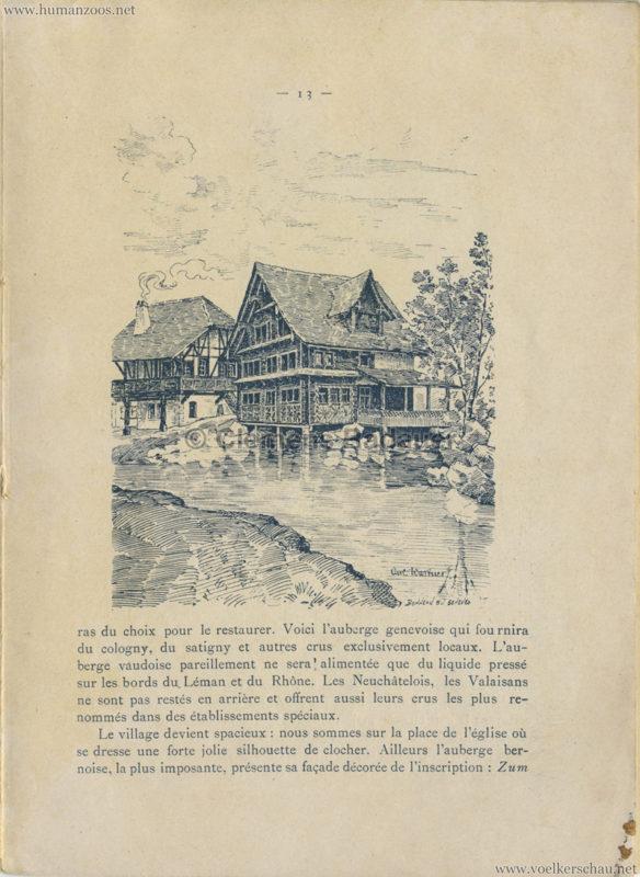 1896 L'Exposition Nationale Suisse Geneve PROGRAMM - Village Suisse 2