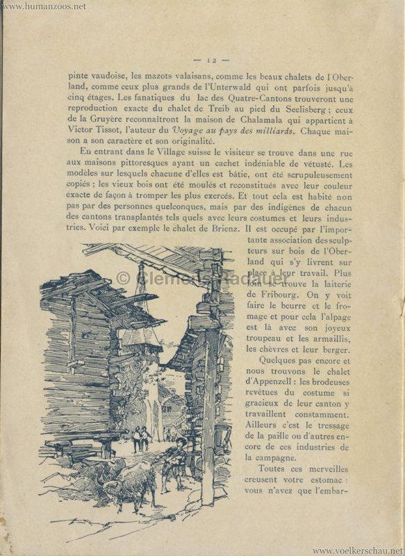 1896 L'Exposition Nationale Suisse Geneve PROGRAMM - Village Suisse 3