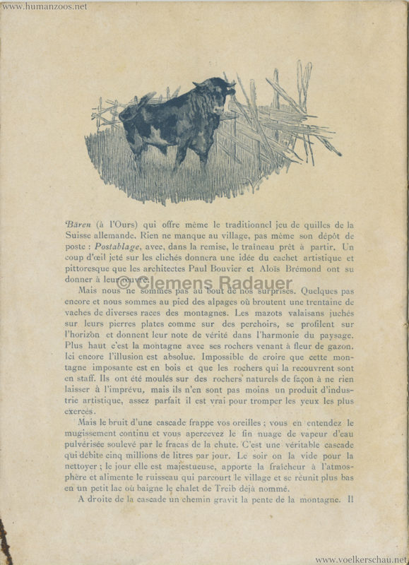 1896 L'Exposition Nationale Suisse Geneve PROGRAMM - Village Suisse 4