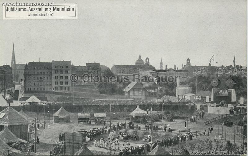 1907 Jubiläumsausstellung Mannheim - Abessinierdorf BW
