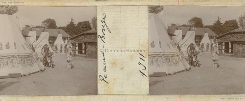 1911 Peaux Rouges Jardin d'Acclimatation STEREO 2