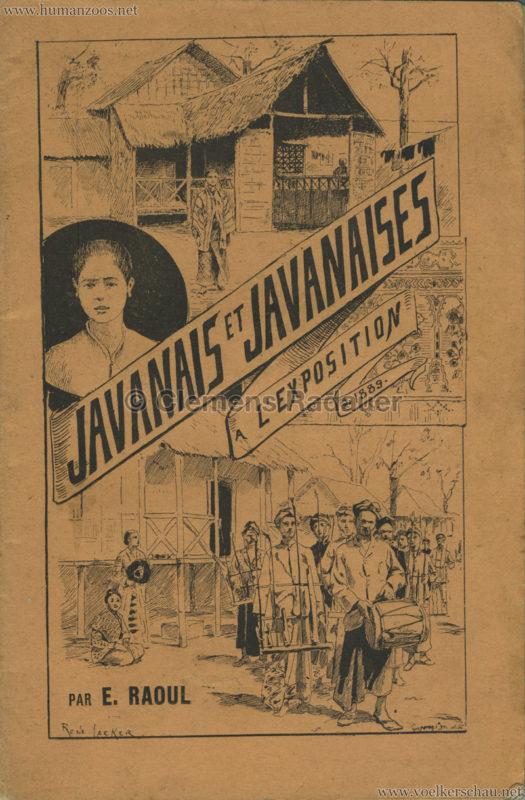 1889 Exposition Universelle Paris - Javanais et Javanaises a l'Exposition 1