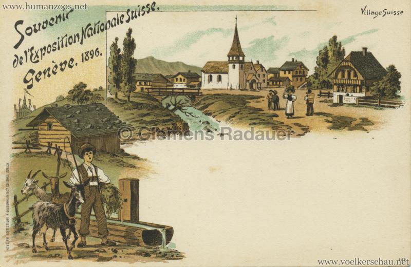 1896 L'Exposition Nationale Suisse Geneve - Village Suisse 2