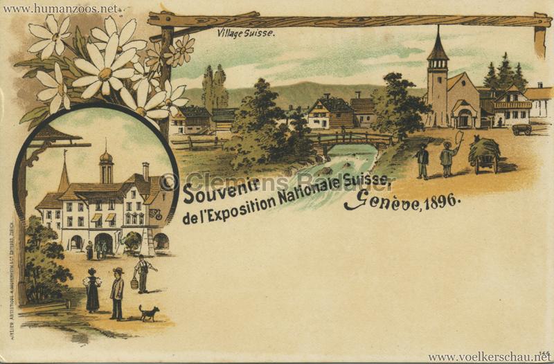 1896 L'Exposition Nationale Suisse Geneve - Village Suisse 3