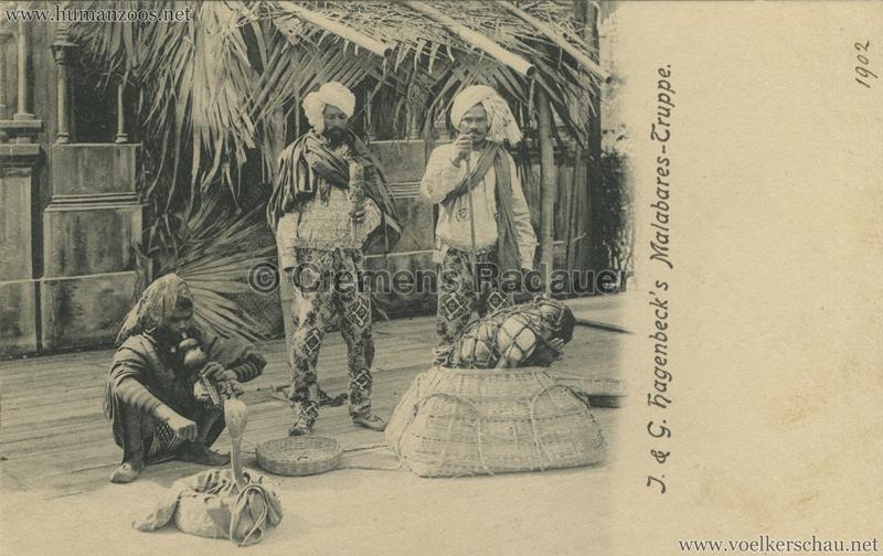 1902 (?) J. & G. Hagenbeck's Malabares-Truppe - Zauberer VS