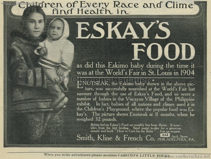 1904 St. Louis World's Fair - Eskimo Village WERBUNG