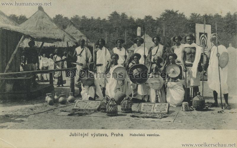 1908 Jubilejni vystava Praha. Habesska vesnice 13