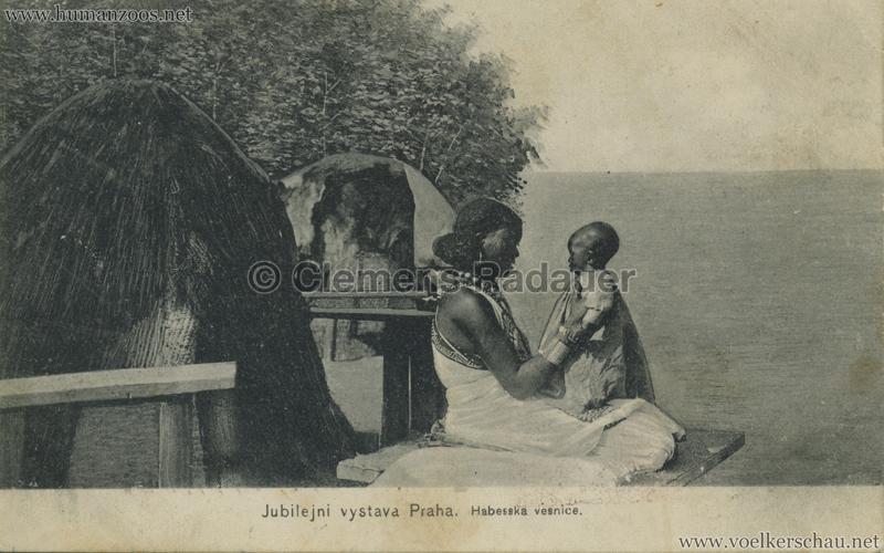 1908 Jubilejni vystava Praha. Habesska vesnice 14