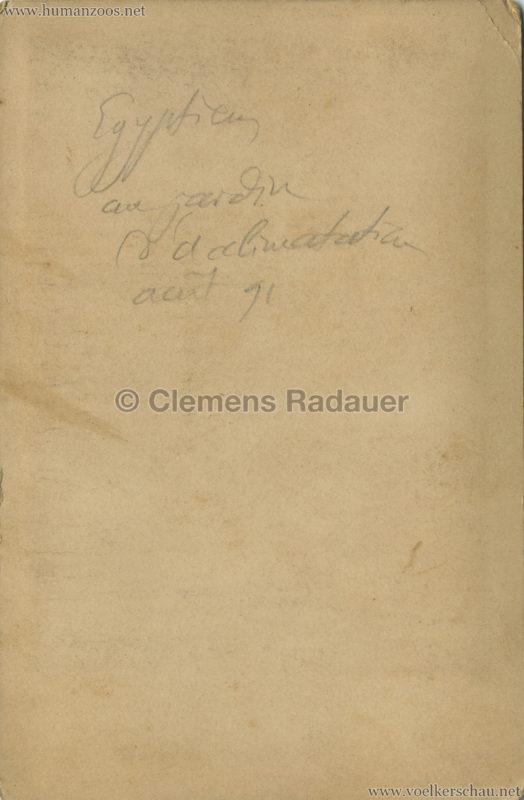 1891 Caravane Egyptienne - Paris Jardin d'Acclimatation CDV 1 RS