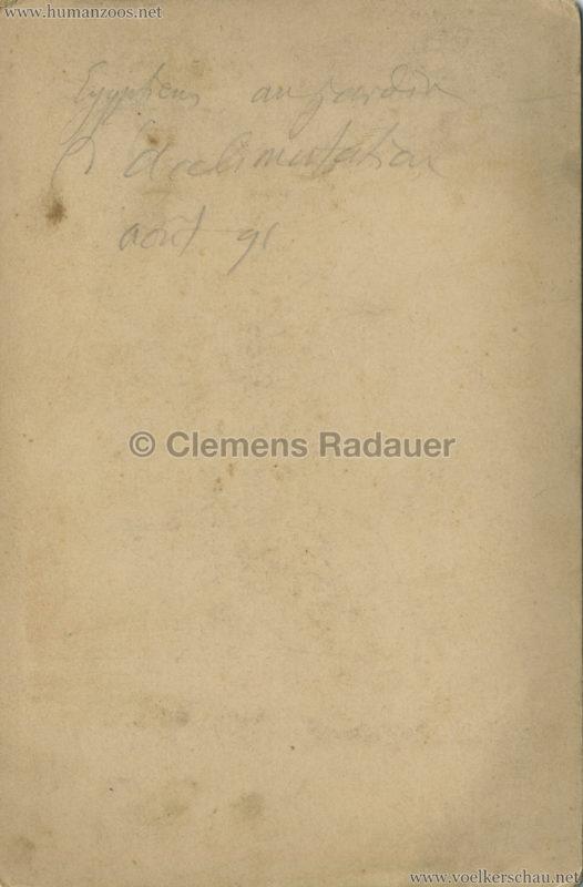 1891 Caravane Egyptienne - Paris Jardin d'Acclimatation CDV 2 RS