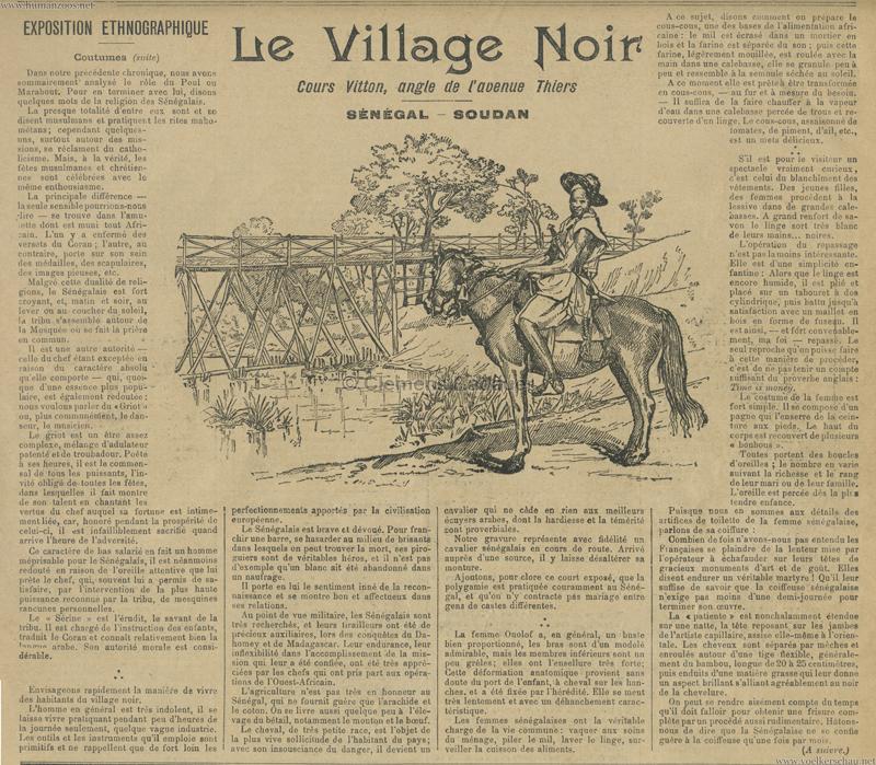 1899.05.14 Le Progre Illustre - Le Village Noir