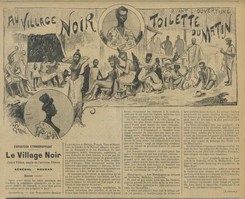 1899.05.21 Le Progres Illustre - Au Village Noir