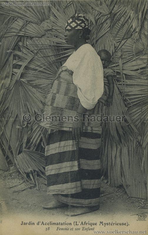 1910 L'Afrique Mystérieuse - Jardin d'Acclimatation - 38. Femme et son enfant