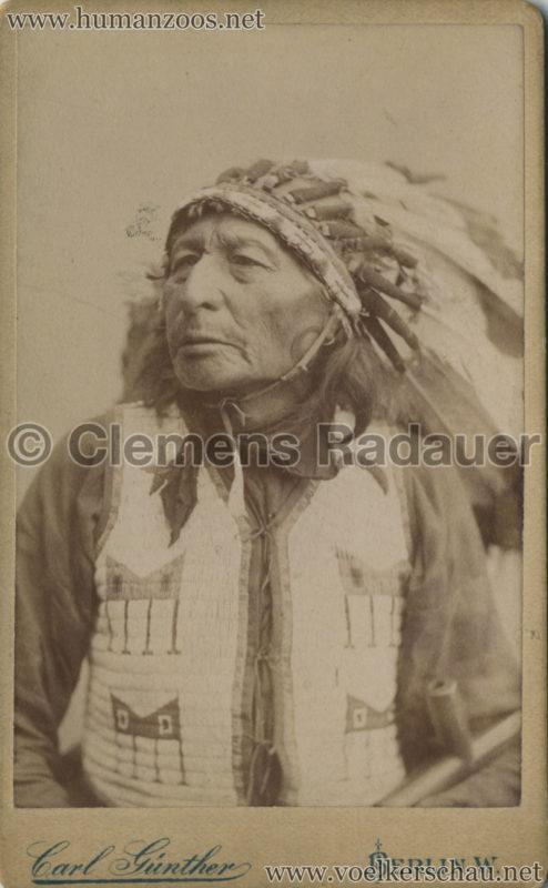 Native American Carl Günther CDV (possibly 1884?)