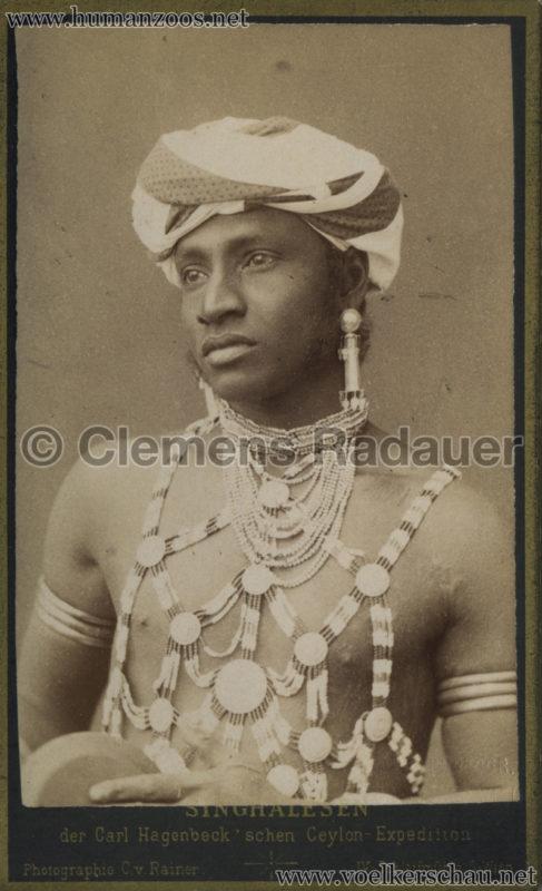 1884:1885 Singhalesen der Hagenbeck'schen Ceylon-Expedition Wien 4