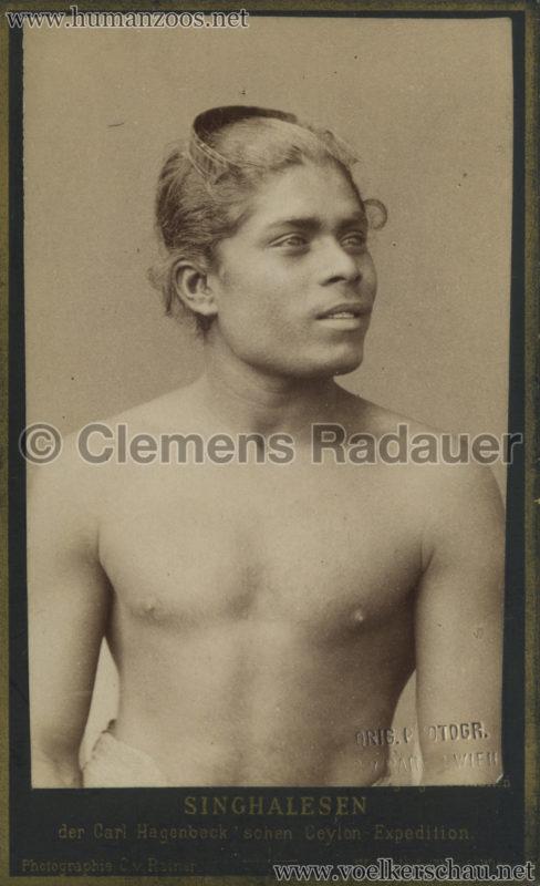 1884:1885 Singhalesen der Hagenbeck'schen Ceylon-Expedition Wien 5