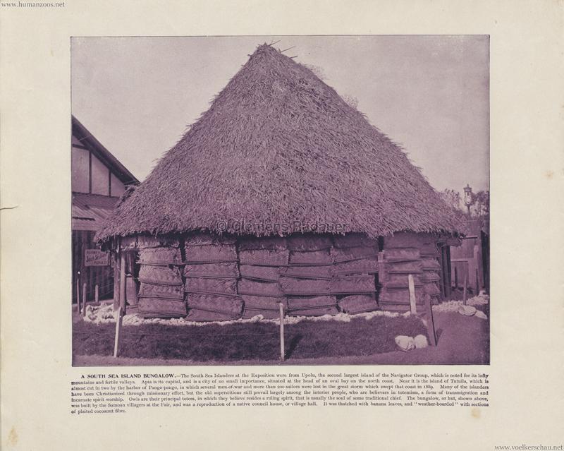 1893 World's Fair Chicago - South Sea Island Bungalow