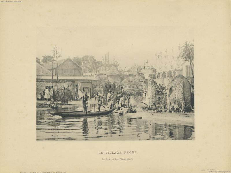 1896 Exposition de Rouen - Revue Illustrée - Le Village Negre