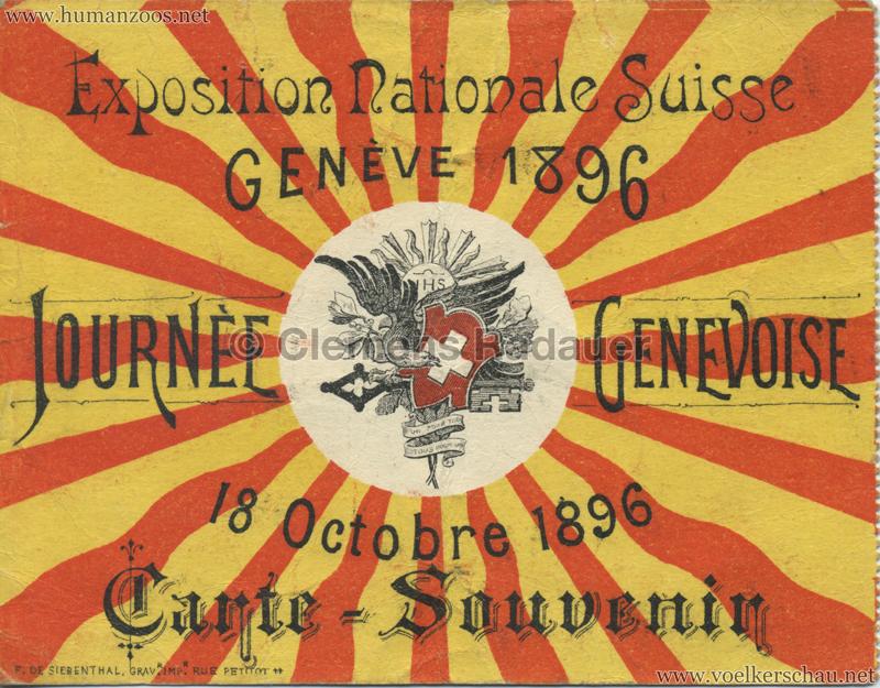 1896 L'Exposition Nationale Suisse Geneve - TICKET