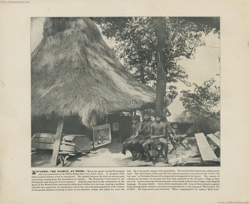 1904 St. Louis World's Fair - Antaero the Igorot at home