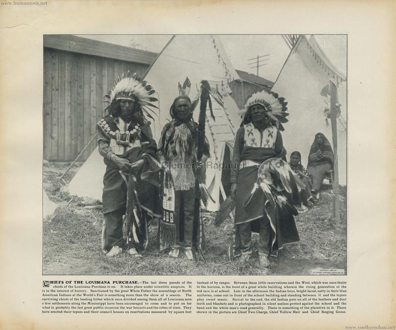 1904 St. Louis World's Fair - Chiefs of the Louisiana purchase