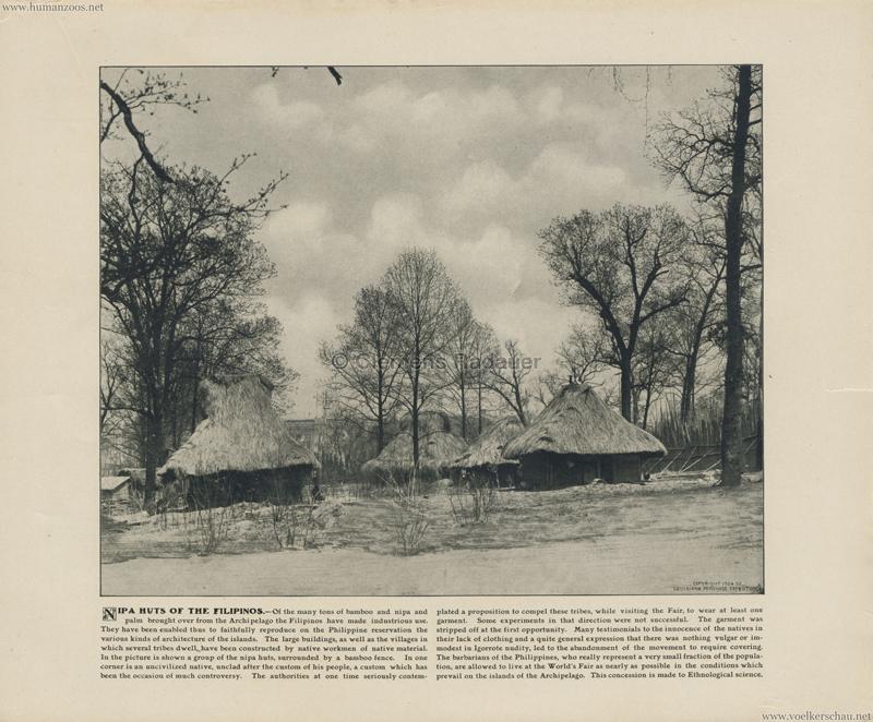 1904 St. Louis World's Fair - Nipa huts of the Filipinos