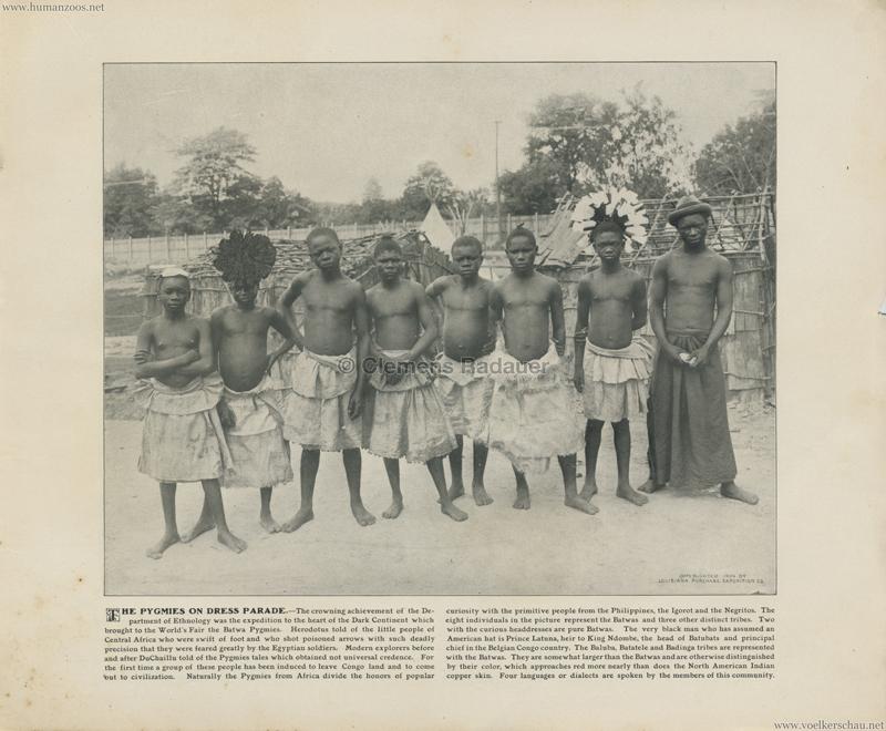 1904 St. Louis World's Fair - The Pygmies on dress parade