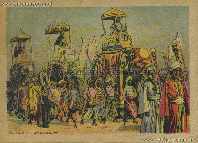 1910:1911:1912 Gustav Hagenbeck's größte Indische Völkerschau der Welt FLYER Mühlhausen 2 VS