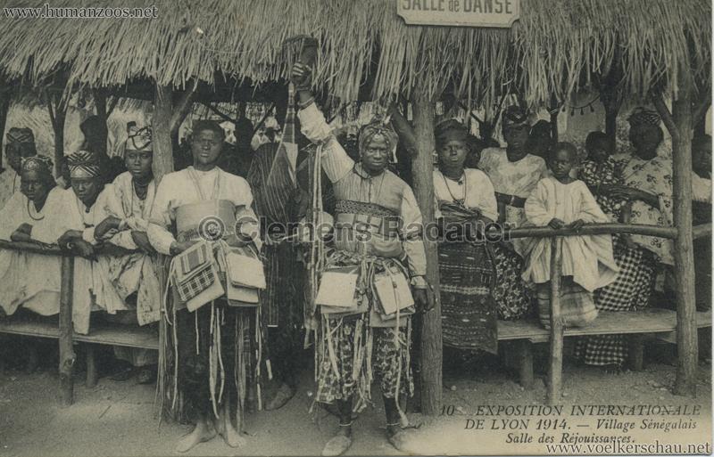 1914 Exposition Coloniale Lyon - Village Sénégalais 10. Salle des Rejouissance