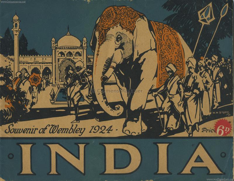 1924 British Empire Exhibition - India PROGRAMM 1
