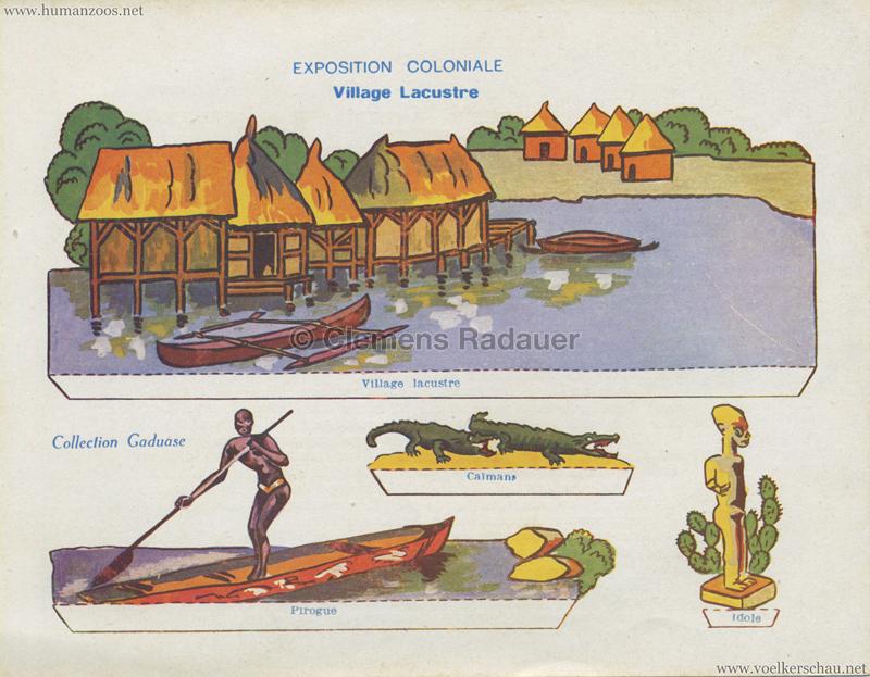 1931 Exposition Coloniale Internationale Paris - Collection Gaduase - Village Lacoustre