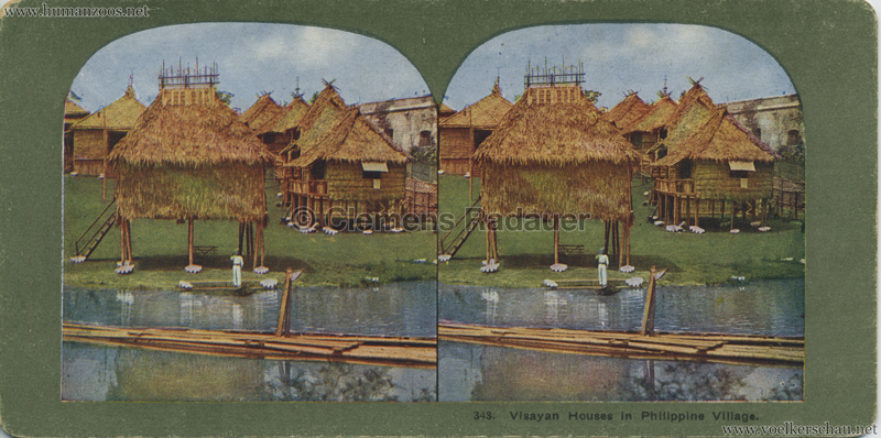 343. Visayan Houses in Philippine Village, World's Fair St. Louis, Mo