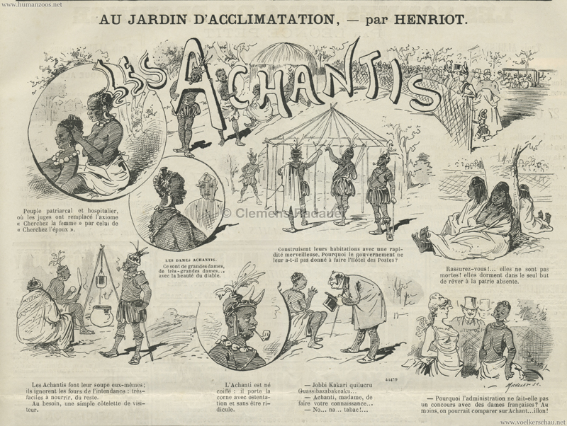 1887.09.24 Journal Amusant - Les Acchantis au Jardin d'Acclimatation