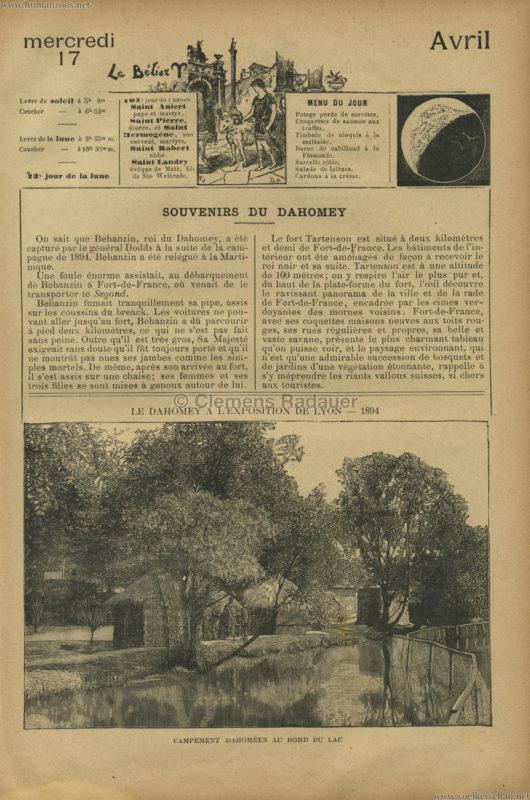 1894 Le Dahomey a l'Exposition de Lyon 1