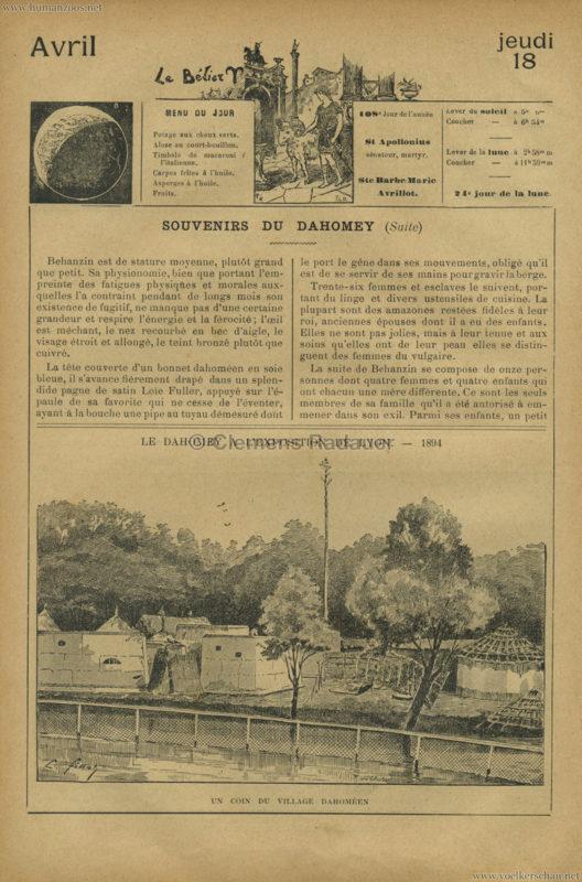 1894 Le Dahomey a l'Exposition de Lyon 2