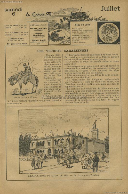 1894 l'Exposition de Lyon - Le Palais de l'Algerie