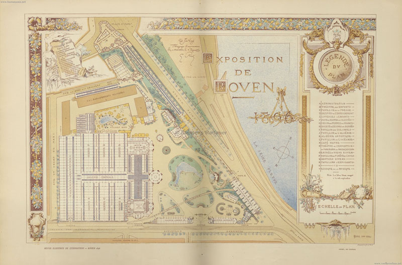 1896 Exposition Rouen PLAN