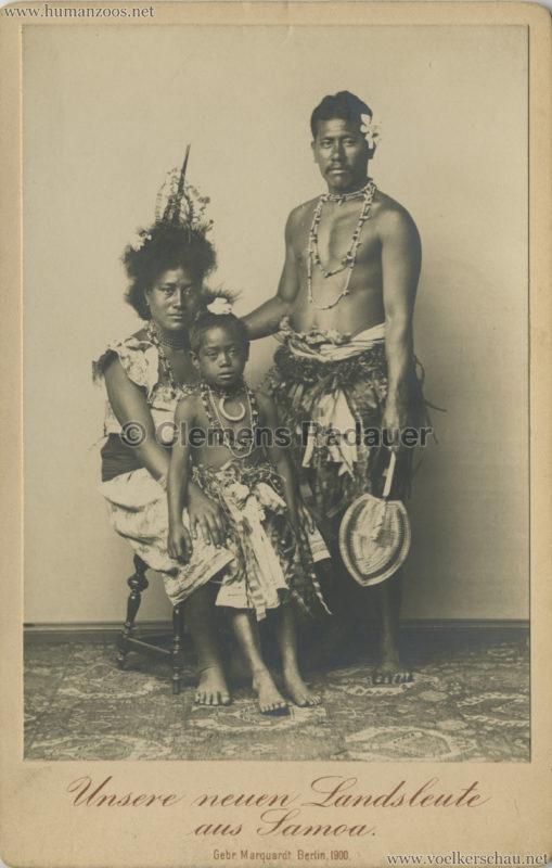 1900:1901 Unsere neuen Landsleute aus Samoa, Berlin 1900 CDV 2