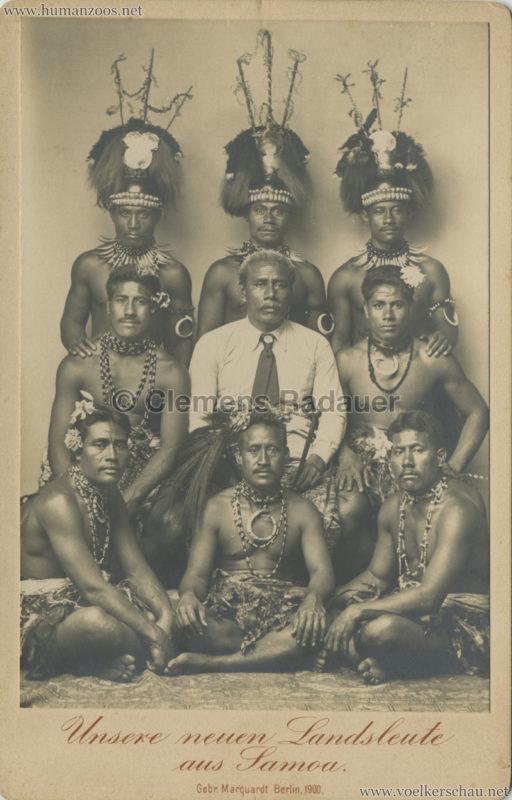 1900:1901 Unsere neuen Landsleute aus Samoa, Berlin 1900 CDV 3