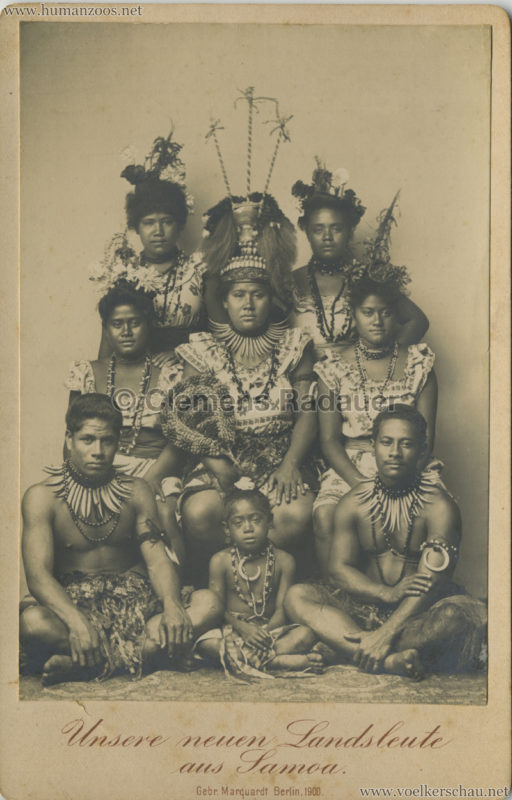 1900:1901 Unsere neuen Landsleute aus Samoa, Berlin 1900 CDV 4