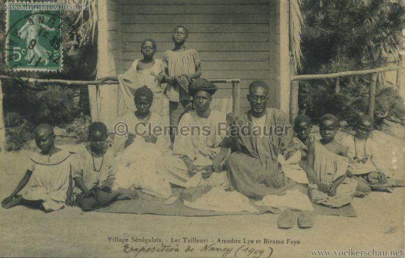 1909 Exposition de Nancy Village Sénégalais. - Le Tailleurs - Amadou Lye et Birame Faye