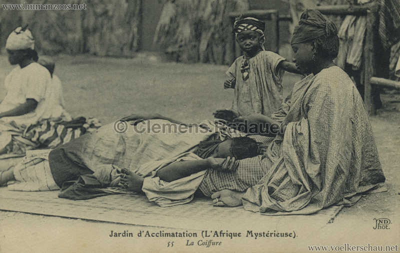 1910 L'Afrique Mystérieuse - Jardin d'Acclimatation - 55. La coiffure