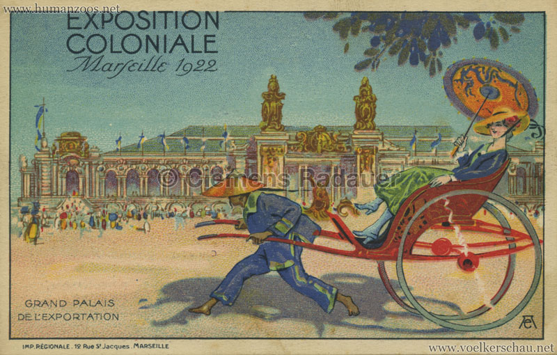 1922 Exposition Nationale Coloniale Marseille Grand Palais de l'Exportation