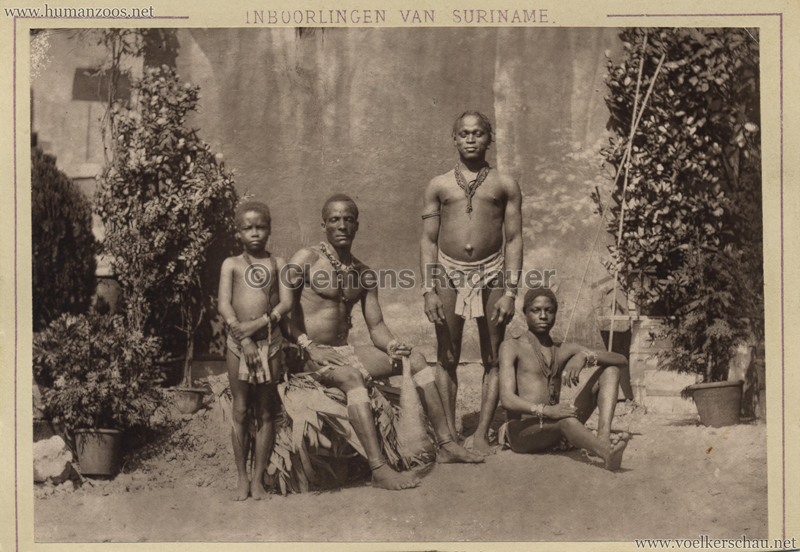 1883 International Colonial Exhibition Amsterdam - Inboorlingen van Suriname